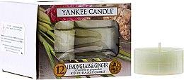 Духи, Парфюмерия, косметика Чайные свечи - Yankee Candle Scented Tea Light Candles Lemongrass & Ginger