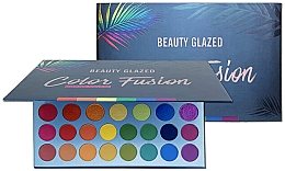 Духи, Парфюмерия, косметика Палетка теней для век - Beauty Glazed Color Fusion Eyeshadow Palette