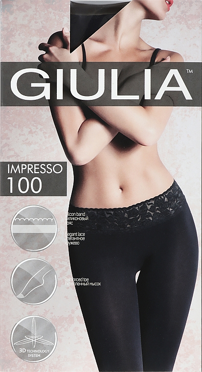 """Колготки для женщин """"Impresso """" 100 Den, nero - Giulia"""