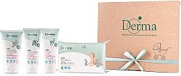 Духи, Парфюмерия, косметика Набор - Derma Eco Baby (cr/100ml+cr/100ml+shm/150ml+wipe/64)