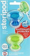 Духи, Парфюмерия, косметика Антибактериальный чехол для зубной щетки, зеленый + синий - Bonfit America Inc Steripod