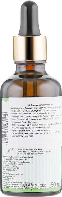 Масло семян конопли - Nacomi Ooh Hemp Seed Oil — фото N2