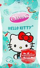 "Духи, Парфюмерия, косметика Влажные салфетки ""Hello Kitty"" 15шт, зеленые - Smile Ukraine Hello Kitty"