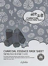 Духи, Парфюмерия, косметика Тканевая маска c углем - Esfolio Pure Skin Essence Charcoal Mask Sheet