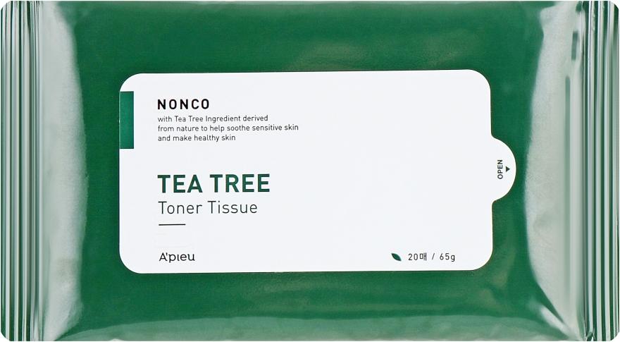 Салфетки для проблемной кожи с маслом чайного дерева - A'PIEU Nonco Tea Tree Toner Tissue
