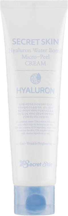 Увлажняющий гиалуроновый крем с эффектом микропилинга - Secret Skin Hyaluron Water Bomb Micro-Peel Cream