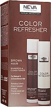Духи, Парфюмерия, косметика УЦЕНКА Набор - Neva Color Refresher Brown Hair (shampoo/300ml + conditioner/300ml) *