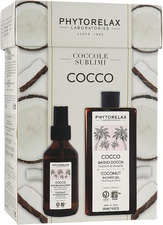 Набор - Phytorelax Laboratories Coconut (sh/gel/250ml + dry/oil/100ml)