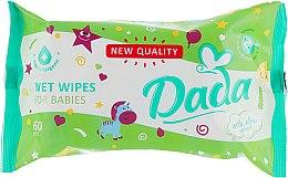 Духи, Парфюмерия, косметика Влажные салфетки для детей экстрактом алоэ - Dada With Aloe Extract Wipes