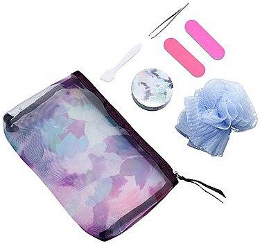 Дорожный косметический набор - Oriflame (tweezers + bast + towel + bag + nailfile + Grinding/nail + spatula)