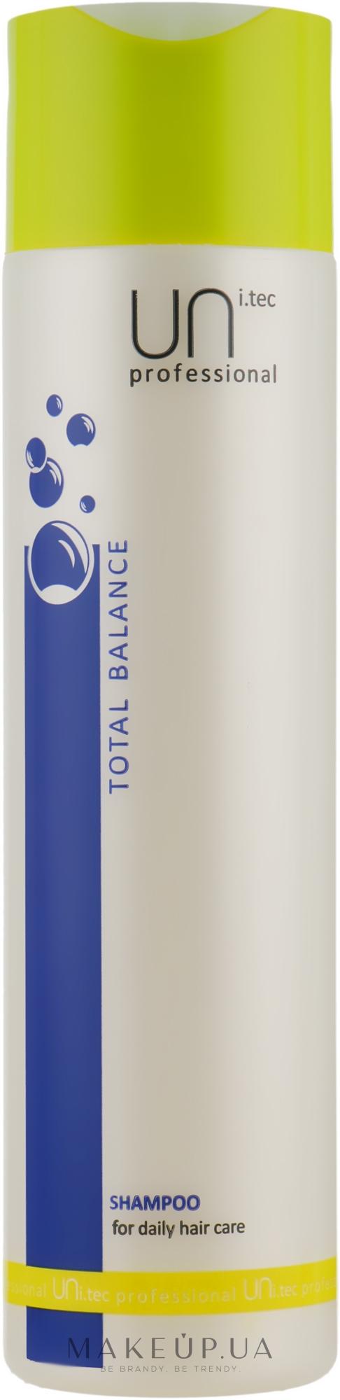 Шампунь для щоденного використання - UNi.tec Professional Total Balance Shampoo — фото 250ml