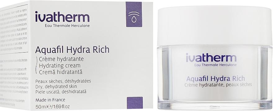 Увлажняющий крем для чувствительной, сухой и очень сухой кожи лица - Ivatherm Aquafil Hydra Rich Hydrating Cream Dry