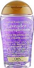 Духи, Парфюмерия, косметика Масло для светлых волос - OGX Lavender Platinum Penetrating Oil