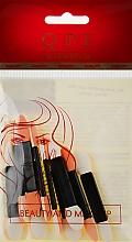 Духи, Парфюмерия, косметика Аппликаторы для теней двусторонние QA-02, 5,5 см, 10 шт., черные - QPI