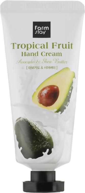 Крем для рук с авокадо и маслом ши - FarmStay Tropical Fruit Hand Cream Avocado & Shea Butter