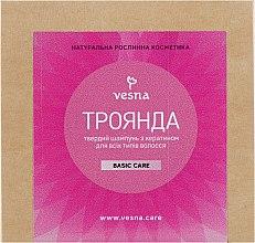 Духи, Парфюмерия, косметика Твердый шампунь для волос «Роза» - Vesna Basic Care