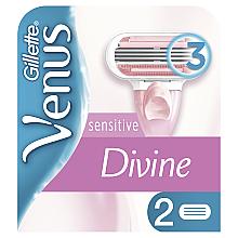 Духи, Парфюмерия, косметика Сменные кассеты для бритья, 2 шт. - Gillette Venus Divine Sensitive