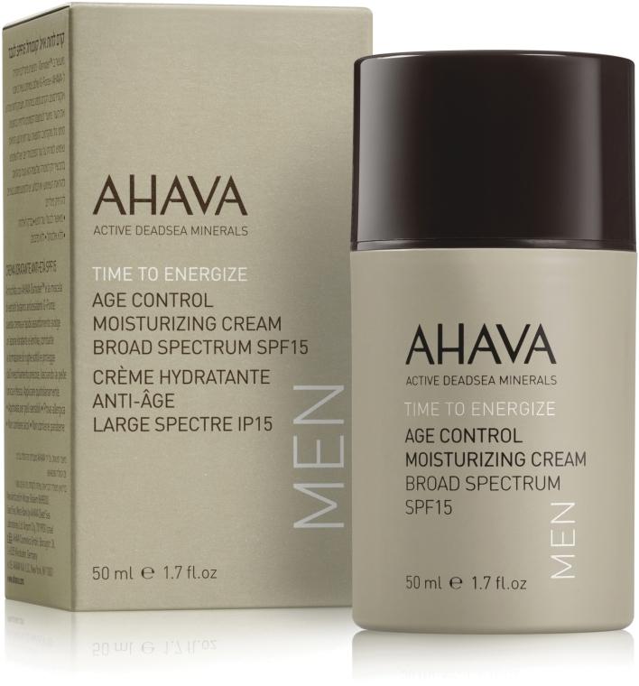 Мужской омолаживающий увлажняющий крем SPF15 - Ahava Age Control Moisturizing Cream SPF15