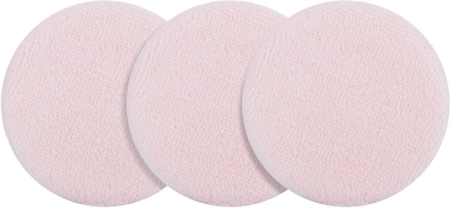 Набор велюровых спонжей для пудры, PF-06, розовый - Puffic Fashion