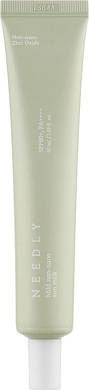 Солнцезащитный крем-молочко - Needly Mild Non-Nano Sun Milk SPF50+ PA++++