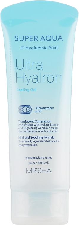 Пилинг-гель с гиалуроновой кислотой - Missha Super Aqua Ultra Hyalron Peeling Gel