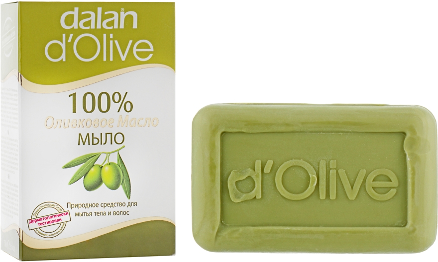 Оливковое мыло - Dalan D'Olive 100% Soap Natural Cleanser For Body And Hair