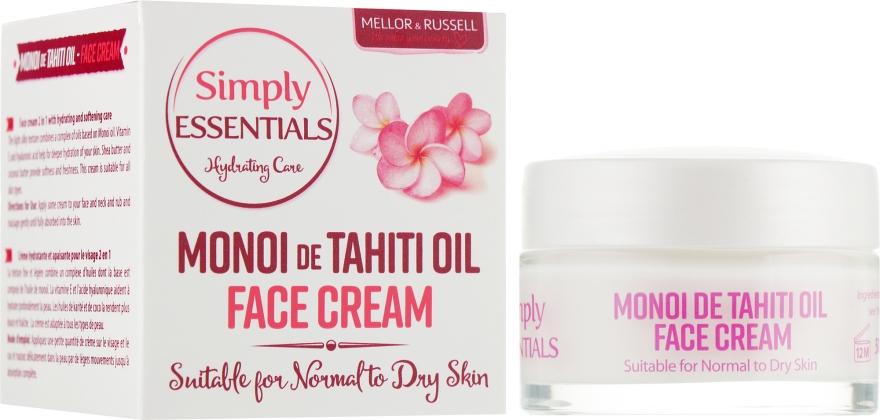 Крем для нормальной и сухой кожи лица с маслом Моной де Таити - Mellor & Russell Simply Essentials Monoi de Tahiti Face Cream