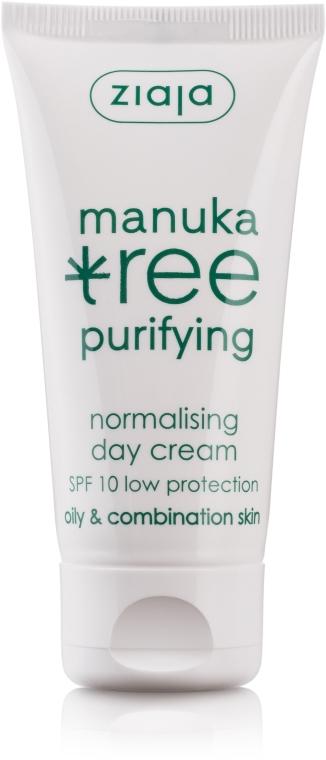"""Дневной нормализующий крем для лица """"Листья манука"""" - Ziaja Manuka Tree Purifying Normalising Day Cream SPF10"""