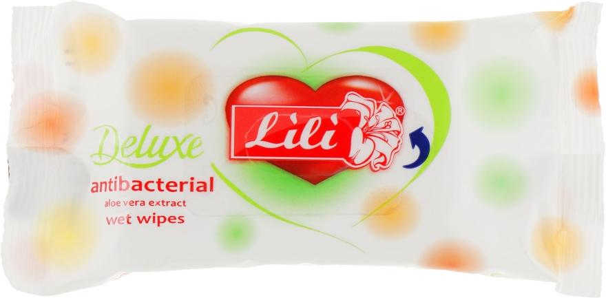 Влажные салфетки антибактериальные с экстрактом алоэ, 15 шт - Lili Deluxe