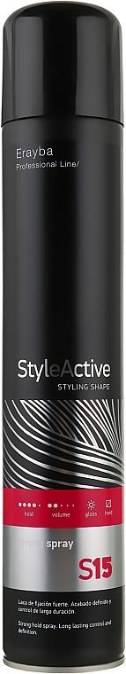 Лак для волос сильной фиксации - Erayba S15 Extreme Spray