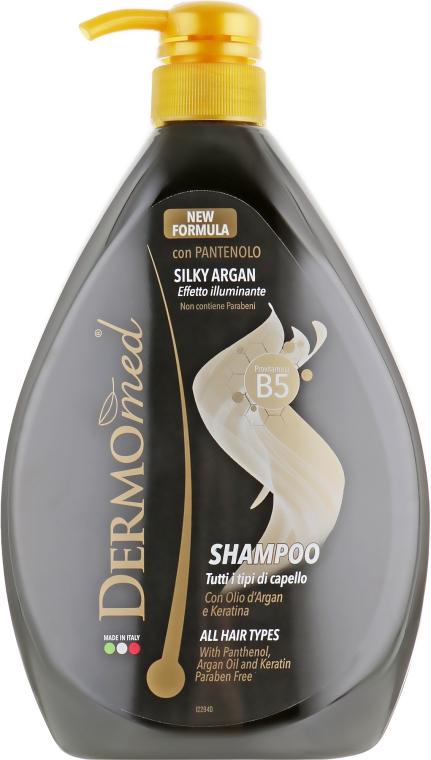 """Шампунь для волос """"Арган с Кератином"""" с дозатором - Dermomed Argan With Keratin Shampoo"""