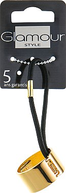 Резинка для волос, 415993, золотая - Glamour — фото N1