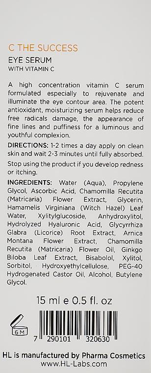 Сиворотка для повік - Holy Land Cosmetics C The Success Eye Serum — фото N3
