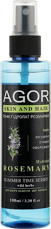 """Тоник """"Гидролат розмарин"""" - Agor Summer Time Skin And Hair Tonic"""