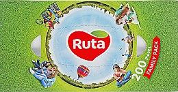 Духи, Парфюмерия, косметика Косметические салфетки 200 шт. - Ruta Family Pack