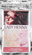 Духи, Парфюмерия, косметика Маска для лица с сандалом и розой увлажняющая - Lady Henna