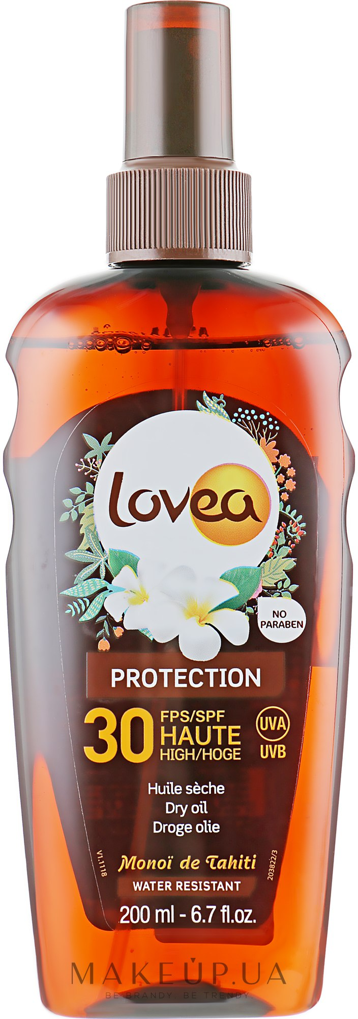 Сухое масло для загара - Lovea Protection Dry Oil Spray SPF30 — фото 200ml