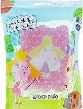 Мочалка банная детская, Princess Holly, розовая в горошек - Suavipiel Ben & Holly's Bath Sponge — фото N1