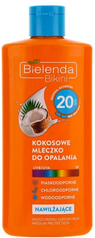 Солнцезащитное молочко кокосовое SPF20 - Bielenda Bikini Moisturizing Suntan Milk Medium Protection