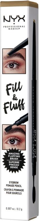 Карандаш-помада для бровей - NYX Professional Makeup Fill & Fluff Eyebrow Pomade Pencil