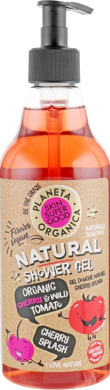 "Гель для душа ""Cherry Splash"" - Planeta Organica Skin Super Food Shower Gel"