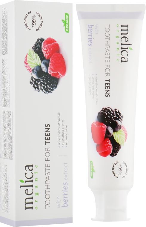 """Зубная паста для подростков """"Ягодный микс"""", 6-14 лет - Melica Organic Toothpaste For Teens With Berries Extract"""
