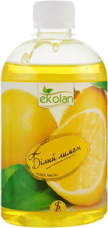 """Жидкое мыло """"Белый лимон"""" - EkoLan (сменный блок)"""