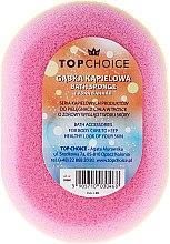 Губка банная овальная 30468, разноцветная - Top Choice — фото N1