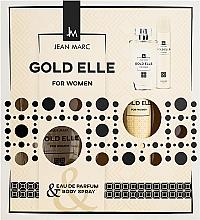 Духи, Парфюмерия, косметика Jean Mark Gold Elle - Набор (edp/100ml + deo/75ml)