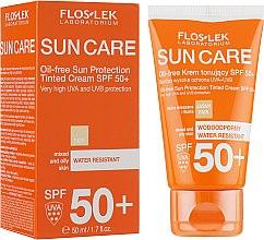 Духи, Парфюмерия, косметика Тонирующий солнцезащитный крем без масла - Floslek Oil-free Sun Protection Tinted Cream SPF 50+