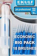 Парфумерія, косметика Щітки для міжзубних проміжків, 0.6 мм., сині  - Ekulf Ph Professional