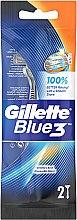 Духи, Парфюмерия, косметика Набор одноразовых станков для бритья, 2шт - Gillette Blue 3