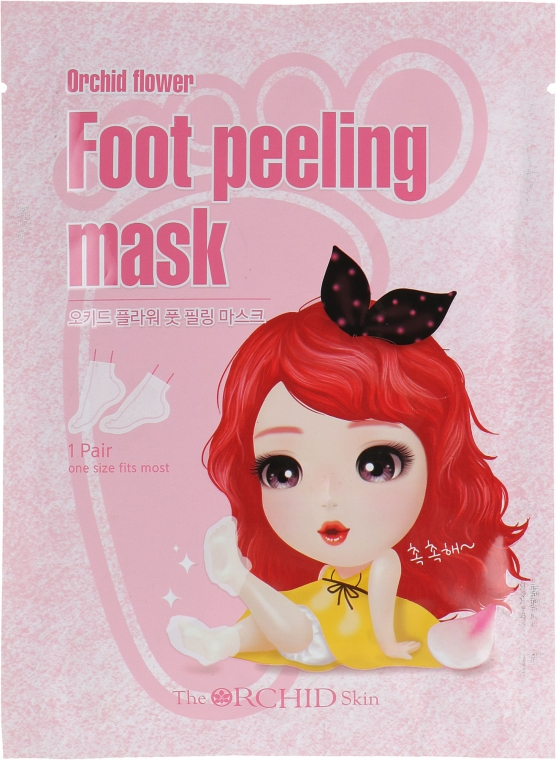 Тканевая маска для ступней - The Orchid Skin Orchid Flower Foot Peeling Mask