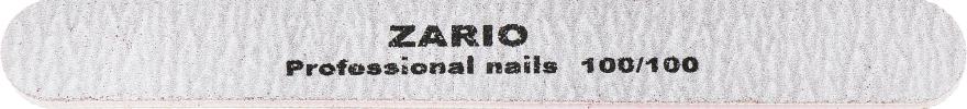 Пилка для ногтей, прямая, 100/100 - Zario Professional